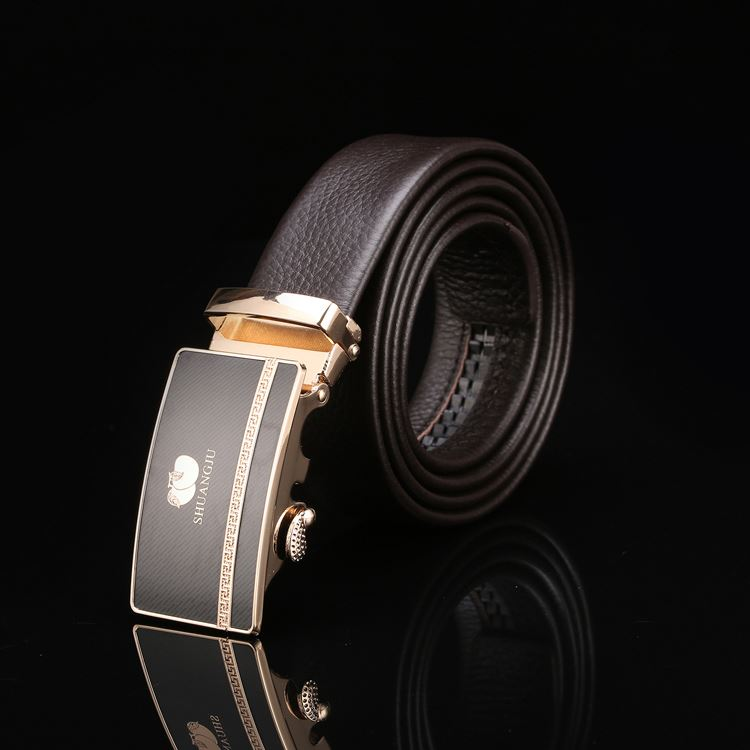 New product custom design factory high quality automatic black man belt for sale