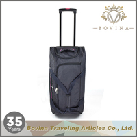 Top Quality leather trolley travel luggage bag
