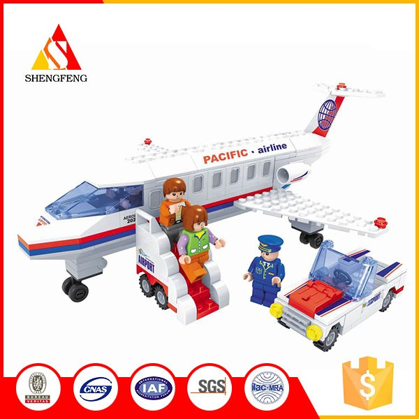 Cartoon Building Blocks For The Pacific Airline Plane Toys Buy