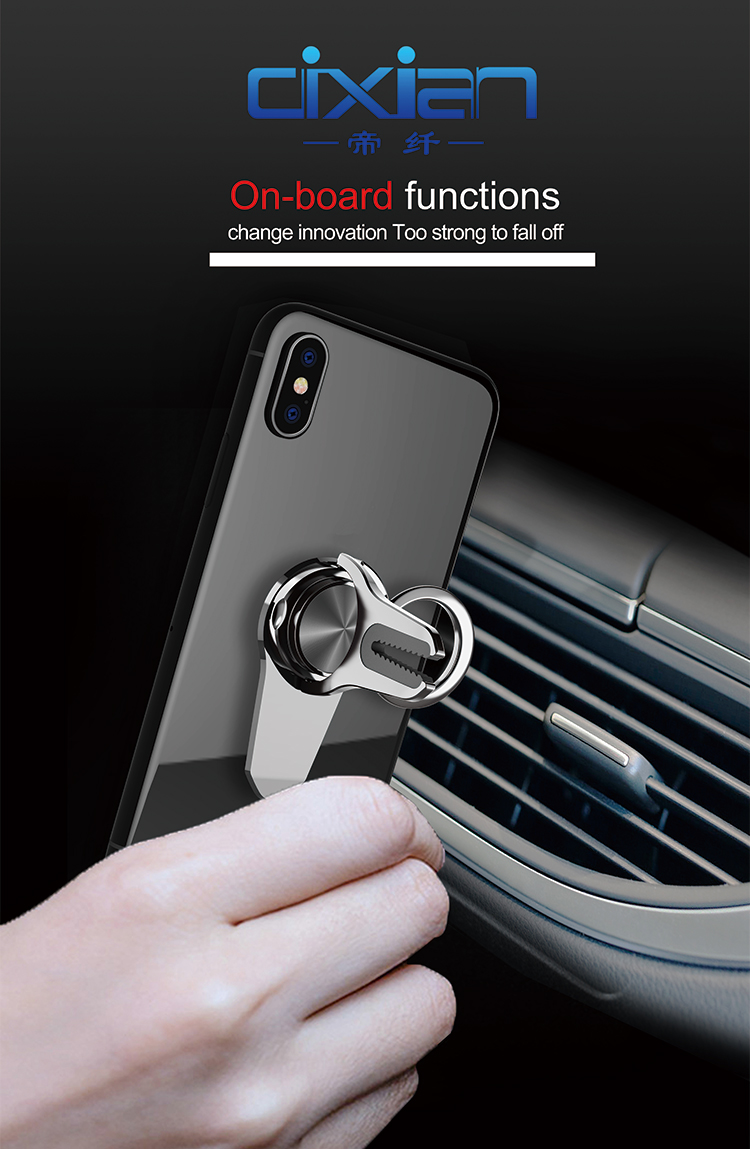 2019 New top sale universal mobile accessories 2 in 1 grip ring magnetic car cell phone holder