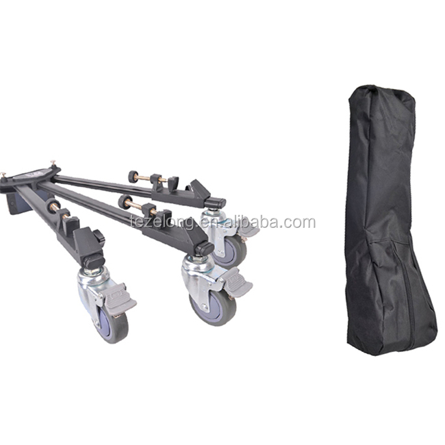 convenient for camera portable video camcorder foldable tripod Weifeng WT600 Dolly wheel wholesale for DSLR