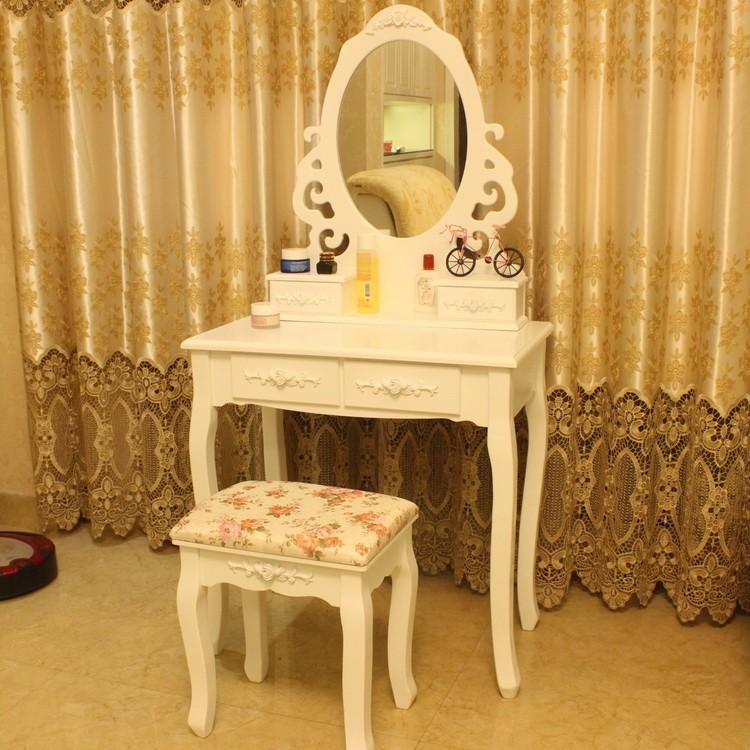 Table De Maquillage/commode En Bois Massif Table/meubles De Chambre À  Coucher Table De Commode - Buy Table De Maquillage De Vanité De Miroir De  ...