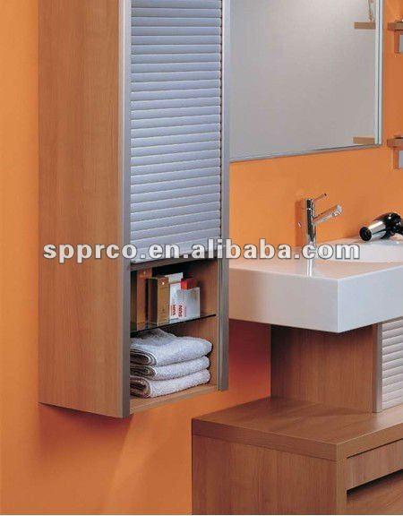 Vertical Opening Tambour Door For Bathroom Cabinet Buy