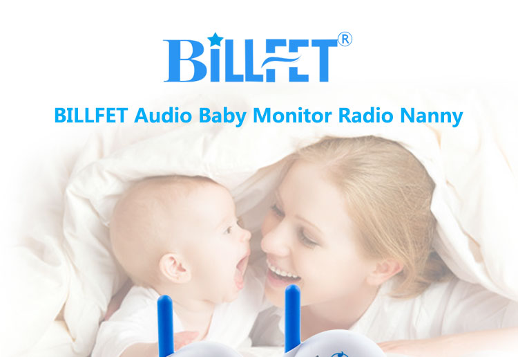 BILLFET Bayi Radio Perawat 2.4 GHZ Transmisi Audio Nirkabel Bayi Monitor Radio Nanny Pengasuh Bayi Walkie Talkies