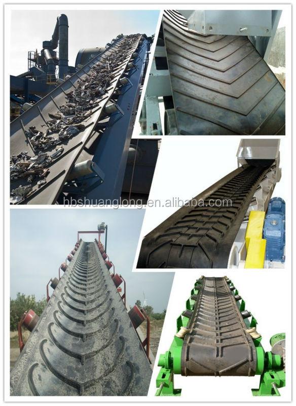 V Shape U Shape Herringbone Patterned Conveyor Belt