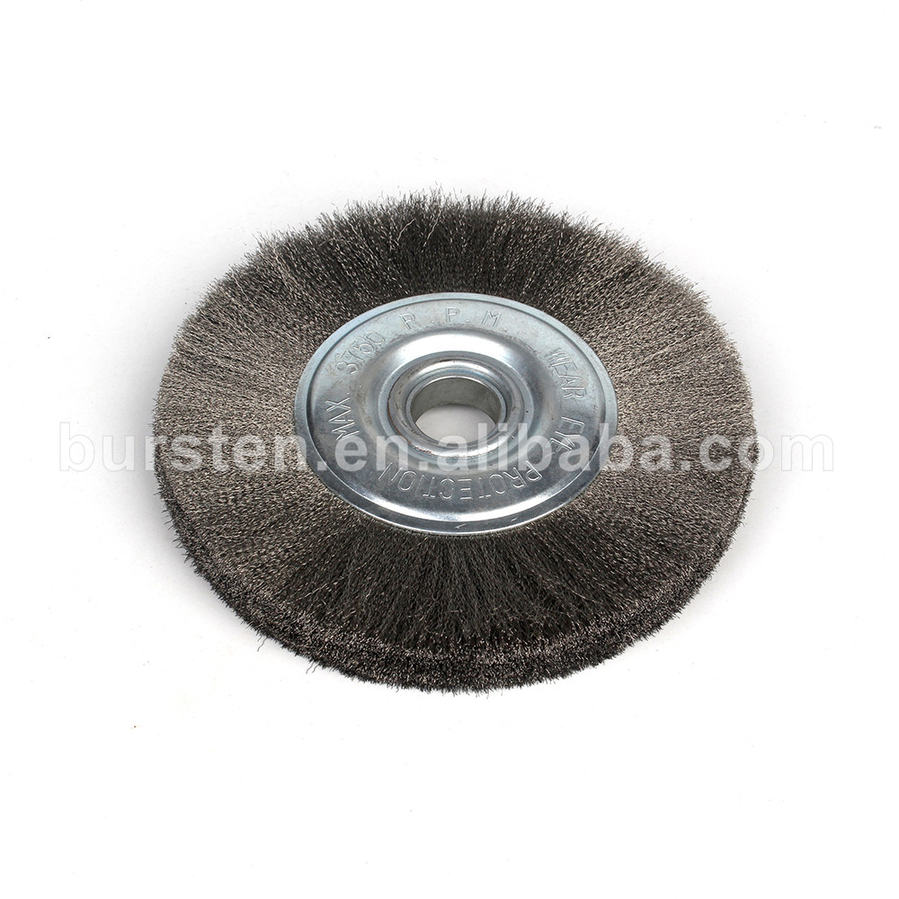 Wire Polishing Brush Steel Wire Wheel Shaped For Stainless Steel Buffing Tool
