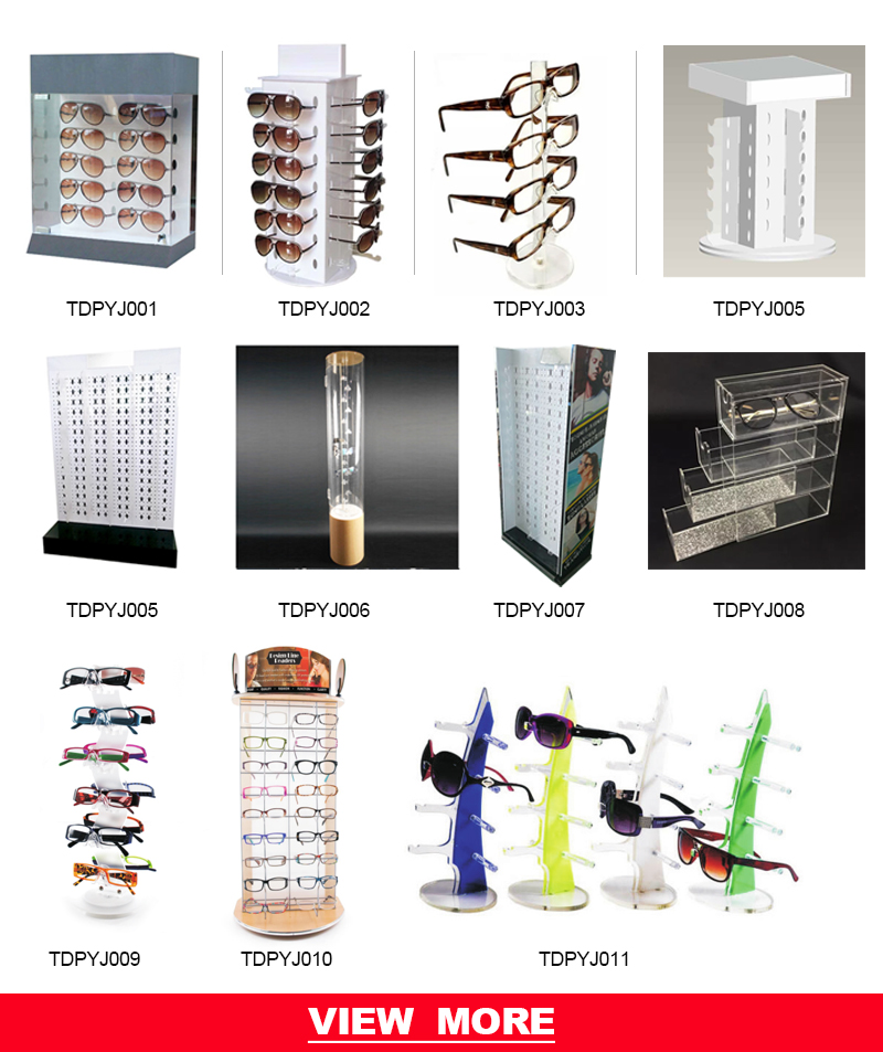 bbd43461a Acrylic counter lock case cabinet spectacles rods stand eyeglass desktop  sunglasses eyewear display rack