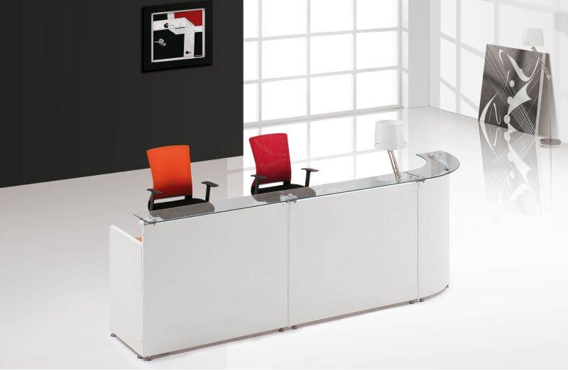 Moderni mobili per ufficio di vetro reception contatore for Mobili per reception