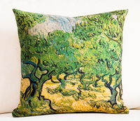 Van Gogh oil painting digital printed canvas standaed size cushion covers