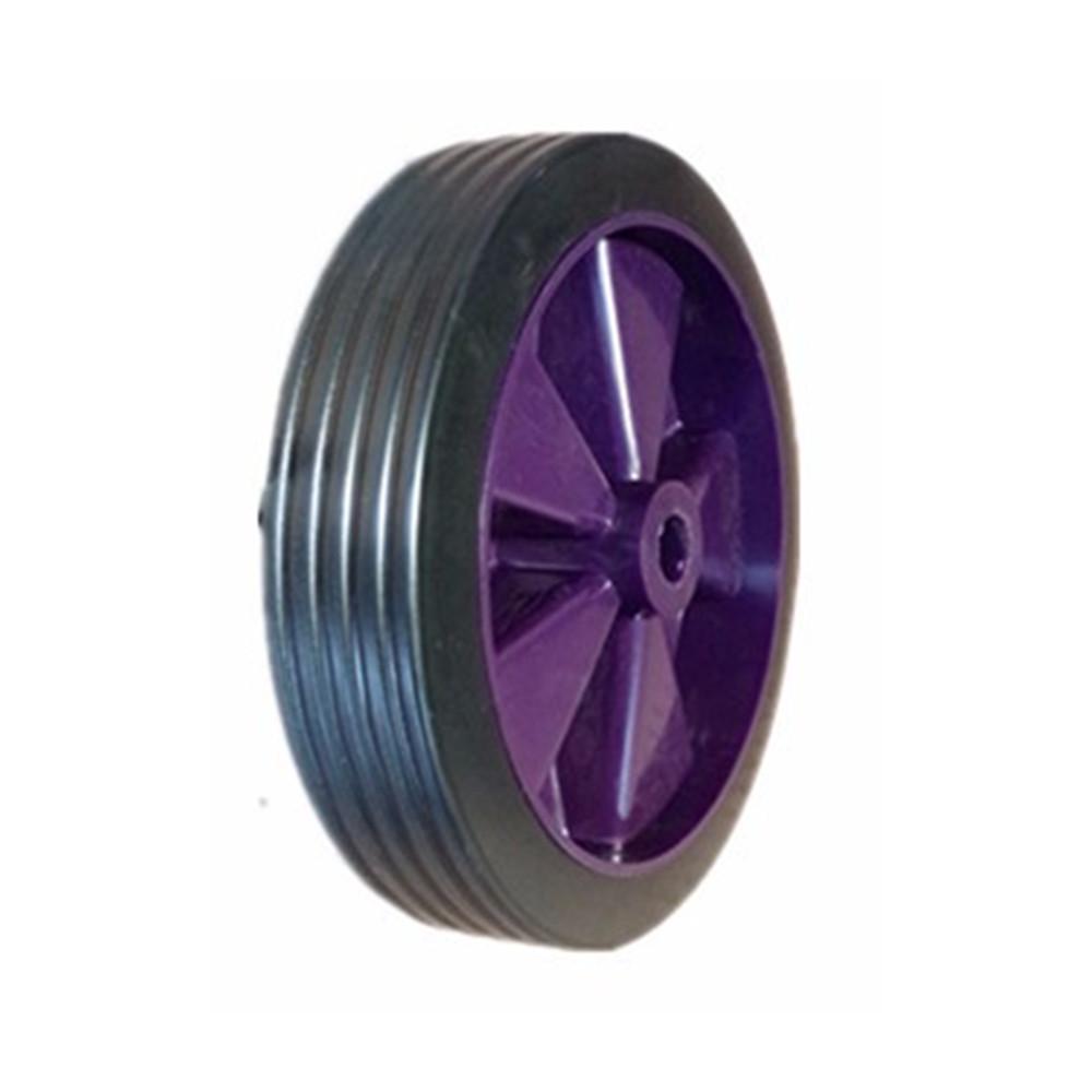 "14/"" PURPLE SPOKED PUNCTURE PROOF Wheelbarrow Wheel Tyre 3.50-8 PLUS AXLE SET"