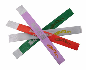 Tyvek paper wristbands creative gifts events inkjet printing tyvek wristband