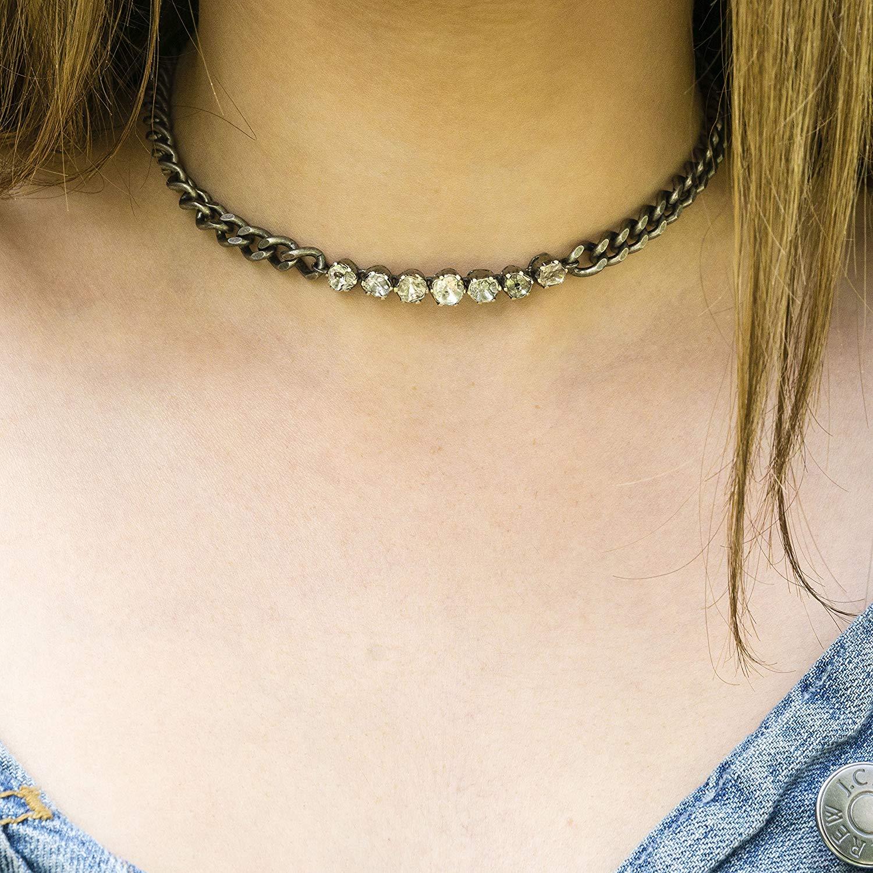92fa006ee885 Get Quotations · Diamond Choker - Rose Cut Diamonds - Statement Necklace -  Rose Cut Diamond Choker - Designer