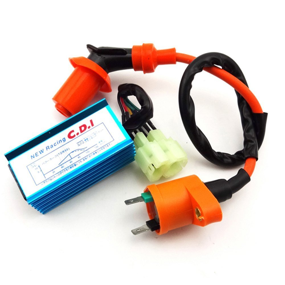 Buy Tc Motor Racing Ignition Coil 6 Pins Wires Ac Cdi Box For Scooter Wiring Chinese Gy6