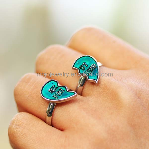 Mood Western Promise Rings for Young Lovers Jewelry Sets Necklace and Rings