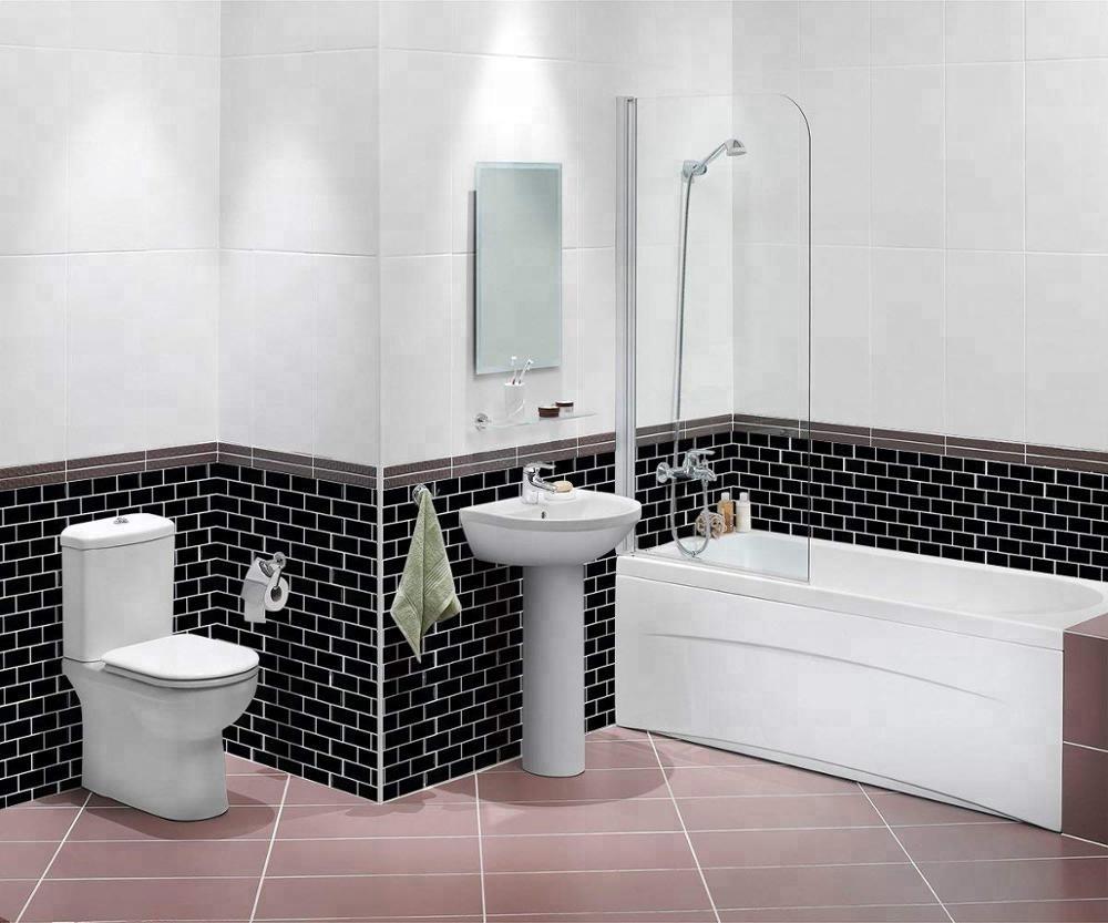 Self-adhesive Brick Subway Decoration Black Tile For Kitchen Bathroom  Backsplash - Buy Black Highlighter Tiles For Kitchen,Brick Style Kitchen ...