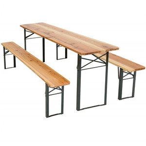 Superb German Foldable Wooden Beer Table And Bench Set Evergreenethics Interior Chair Design Evergreenethicsorg