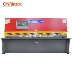 Nanjing maanshan hydraulic variable Estun Controller rake angle guillotine shearing machine for metal processing