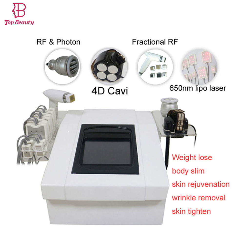 portable lipo laser 4D cavitation vacuum roller rf face lifting machine