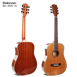 34 inch entry level top solid spruce quality travel small children acoustic guitar, musical instrument guitar
