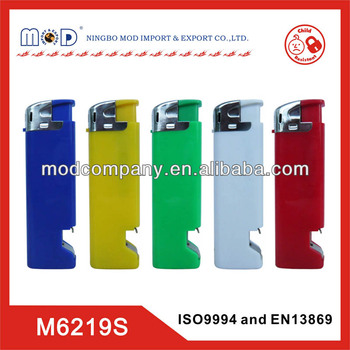 Europe standard promotional plastic lighter with bottle opener-lighter factory