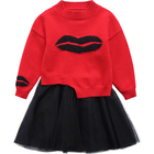 DRYBX1811GH5246 2019 New Design Girls Fashion Sweaters Wholesale Kids Clothing