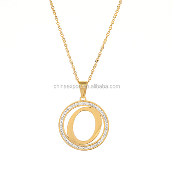 Simple Women Chain Necklace Letter O Round Pendant Gold Initial Necklace Buy Initial Necklace Gold Initial Necklace Round Pendant Initial Necklace Product On Alibaba Com