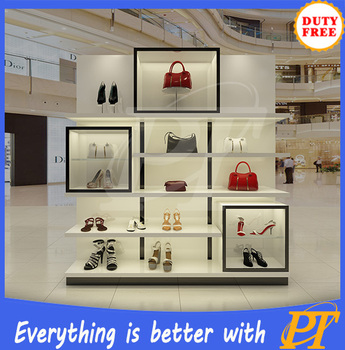 Commercial Shoe Display Rack Showcase Mdf