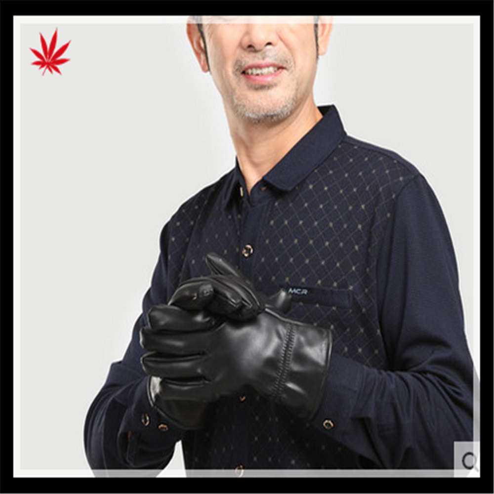 mens high-quality real sheepskin gloves for wholesale