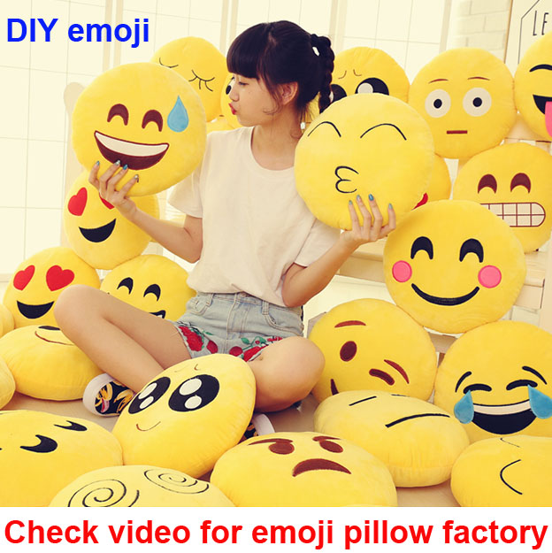 emoji pillow wholeset plush case bag food ball hat keychain slippers toy