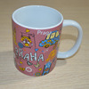 11oz ceramic sublimation mug with colorful logo printing as per your design