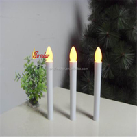 flameless warm-yellow long stick led candle