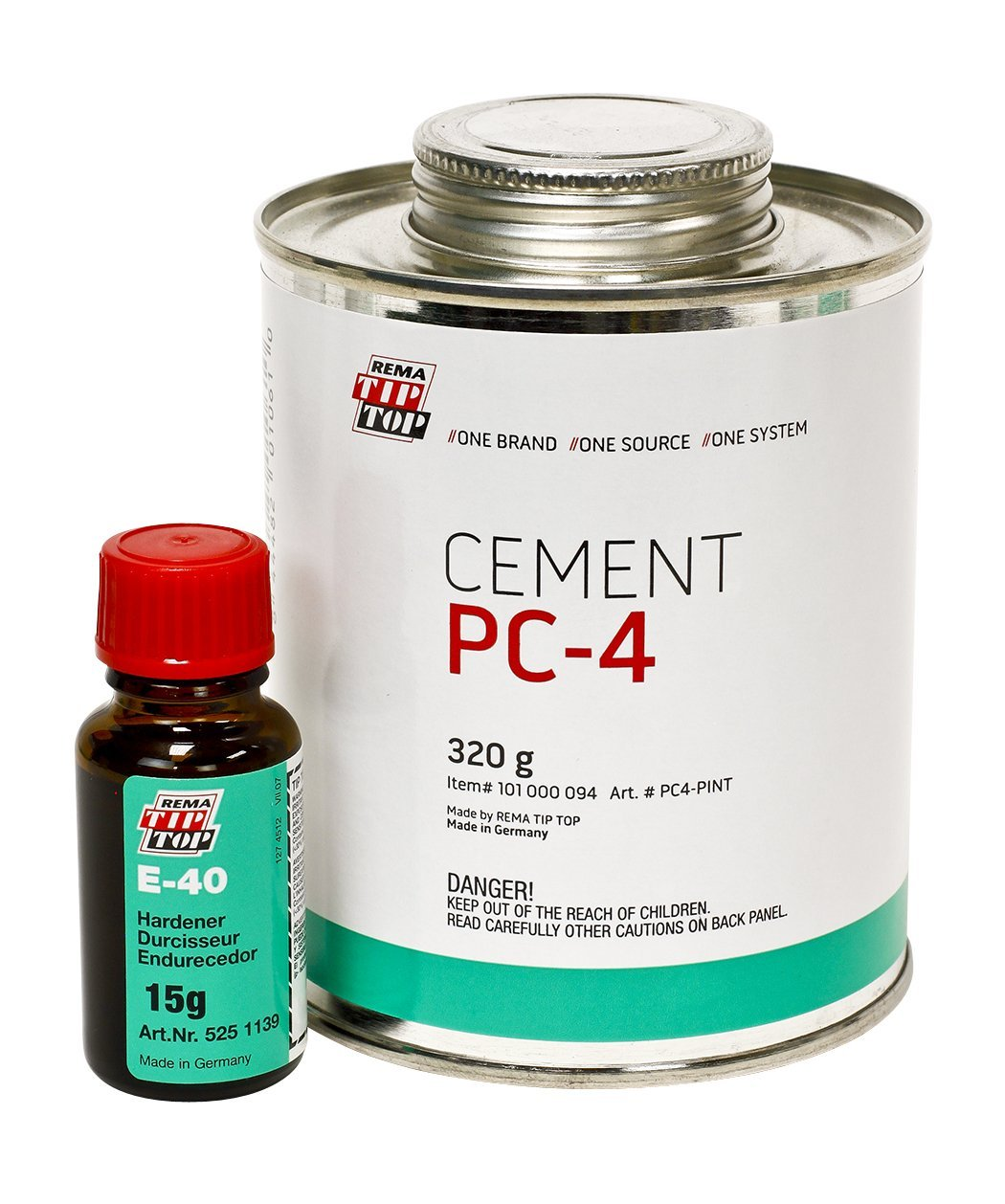 REMA TIP TOP PC-4 Cement 320g Kit (with E-40 Hardener 15 g)