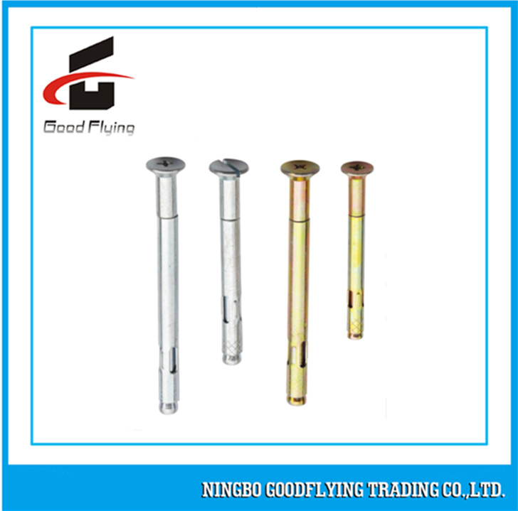 external hex head flange nut sleeve anchor with metric thread