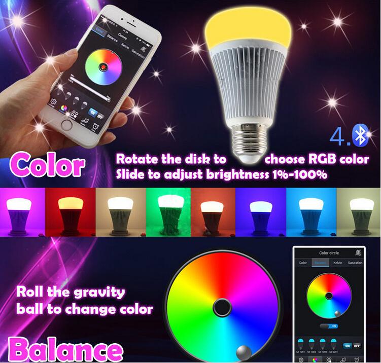 Mi.light 8w Magic Bluetooth Led Light Smart Music Led Lamp Dimmer ...