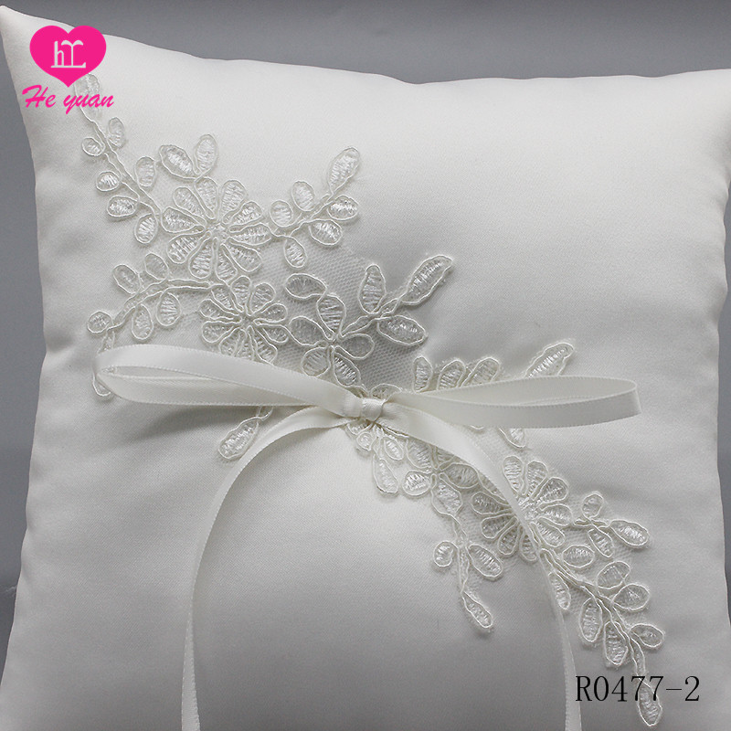 R0477-2 Western Style Ceremony Wedding Supplies Decoration Linen Cloth Ring Pillow