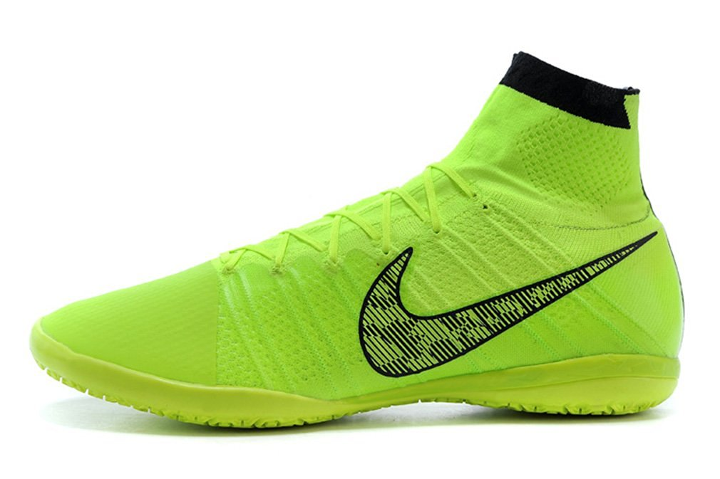 0e07adf91c4 Get Quotations · Men s Elastico Superfly Indoor - Volt-White-Black-Flash  Lime High Top Football