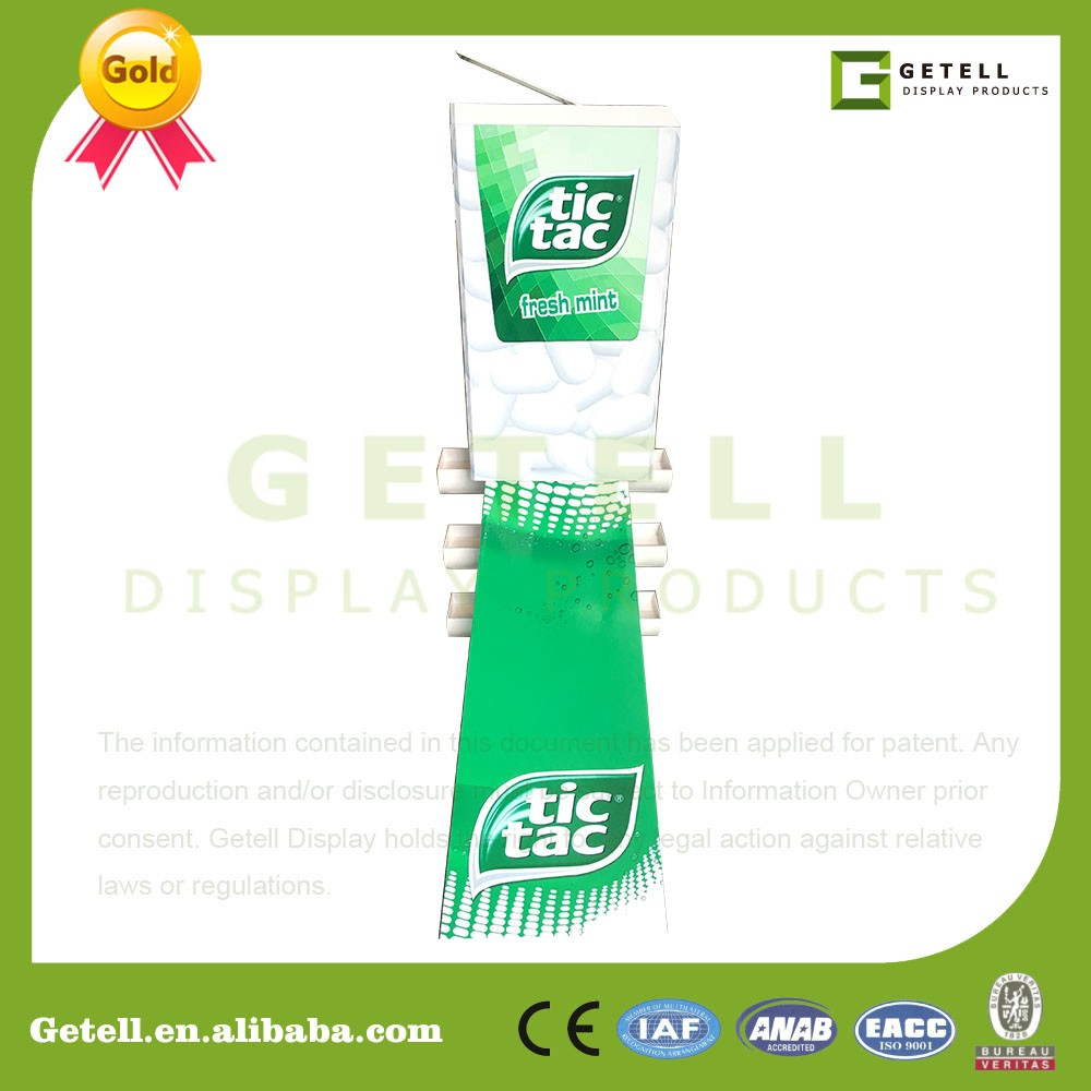 Acrylic Tic tac store used display shelves stand for sale Floor ...