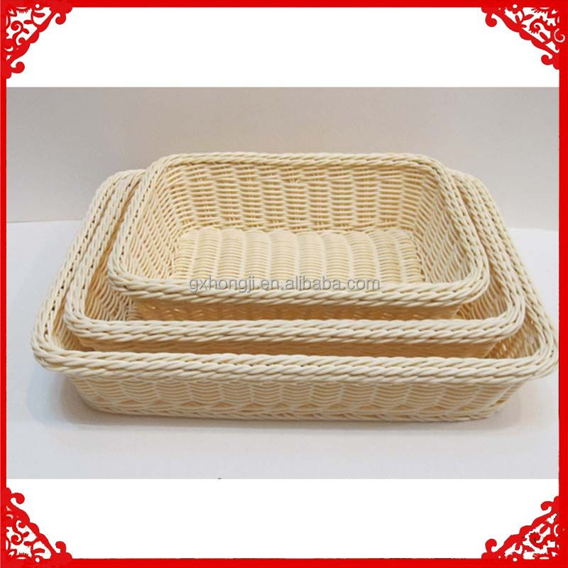multifunction plastic fruit tray pp rattan storage basket