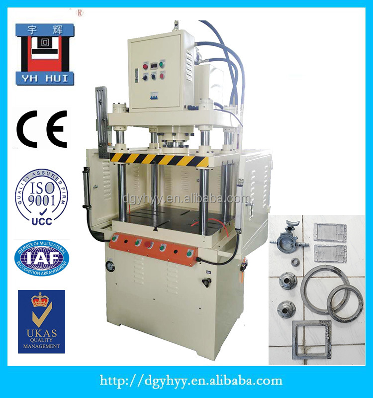 25 ton burrs cell phone case flash deburring edge cutting aluminum alloy die cast double point vertical four column trim press
