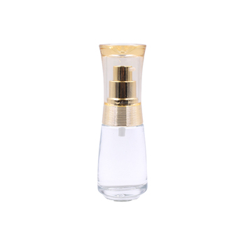 Hot selling clear glass bottle  skin care glass lotion bottle