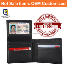 Unisex RFID Blocking Leather Wallet for Men Excellent Credit Card Holders Genuine Leather Wallet for Travel