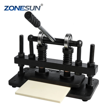 26x12cm Double Wheel Hand leather cutting machine photo paper PVC EVA sheet mold cutter leather Die cutting machine