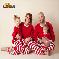 Wholesale 2019 red and green & white striped Christmas Halloween holiday matching family christmas pajamas