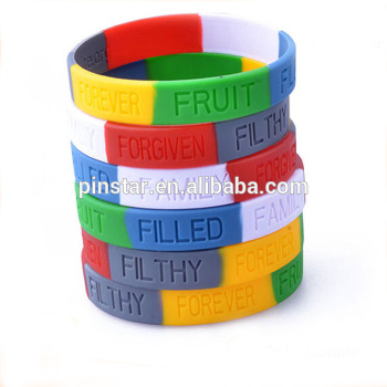 Promotion Fancy Hot Style Custom Silicone Rubber Wristband Bracelet