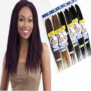 "1Pack/Lot 24"" inch Long Freetress Large Dookie Synthetic Hair Crochet Box Braids"
