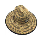 Mexican woven paper straw beach hats fashion design patch logo italy panama hat wholesale