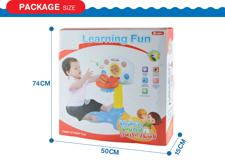 kids cute plastic indoor backboard basketball toy sport game with music