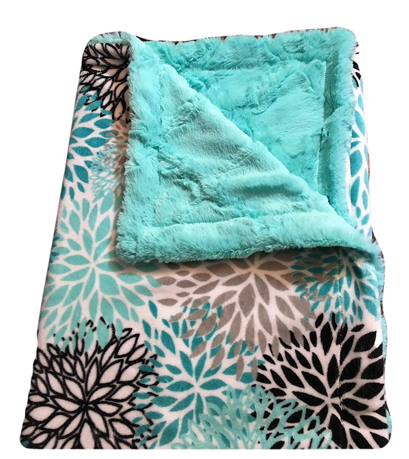 Personalized Baby Blanket- Minky Baby Blanket- Teal Blanket, Baby Boy or Girl Minky Blanket Blanket-Toddler Size Blanket