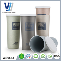 Wholesale Promotion Custom Plastic Reusable Coffee Cup With Lid