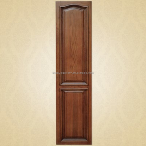 2017 Wholesale American Style Solid Wood Brown Color Cheap Price Bedroom Wooden Door